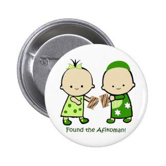Encontró el Afikoman Pin Redondo 5 Cm