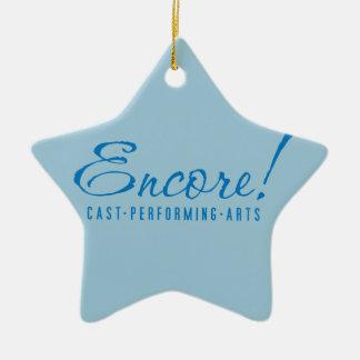Encore! Logo 2015 Star Christmas Ornament