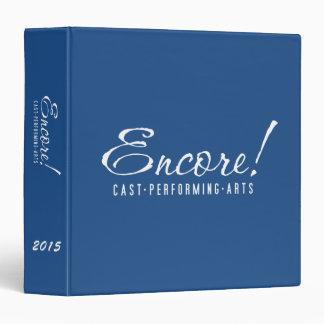 Encore! Logo binder in Blue