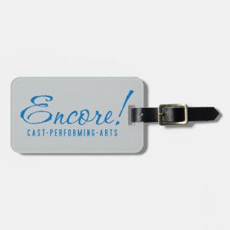 Encore! Logo Luggage Tag