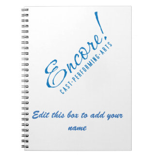 Encore! Notebook with Edit Box for your name
