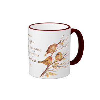 Encoucouraging Scripture Matthew 6:26, Birds Ringer Coffee Mug