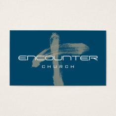 Encounter Cross Church Religion Christian Pastor Business Card at Zazzle