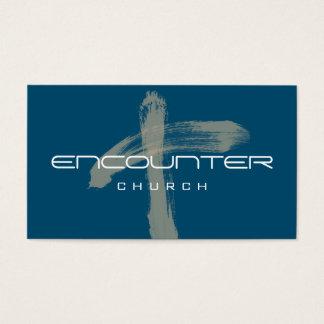 Encounter Cross Church Religion Christian Pastor Business Card
