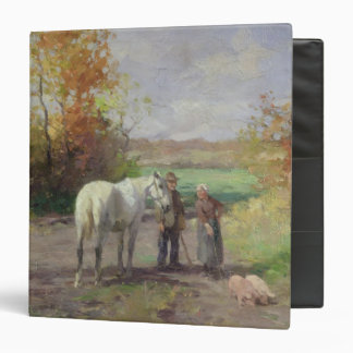 Encounter on the Way to the Field, 1897 Vinyl Binder