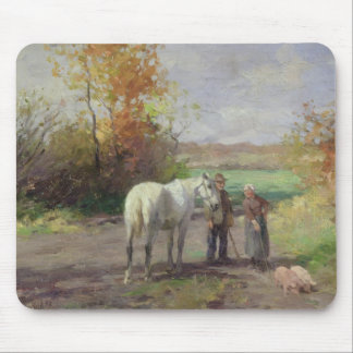 Encounter on the Way to the Field, 1897 Mouse Pad