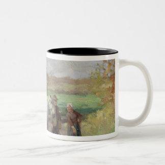 Encounter on the Way to the Field, 1897 Two-Tone Coffee Mug