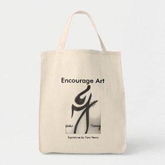 'Encourage Art' Organic Tote featuring 'Signatures