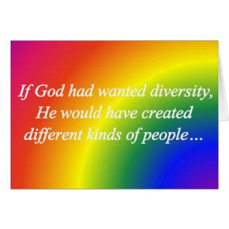 Encourage Diversity Reverse  Standard Card