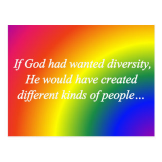 Encourage Diversity Reverse  Standard Postcard