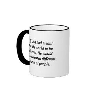 Encourage Diversity (sq) Ringer Mug