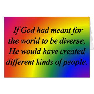 Encourage Diversity Standard Greeting Card