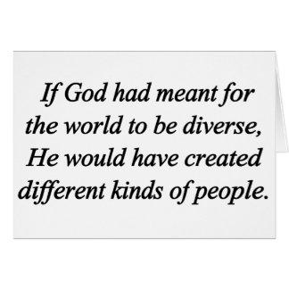 Encourage Diversity Standard Card