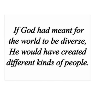 Encourage Diversity Standard Postcard