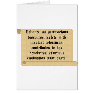 Encourage everyone to be civilized. card