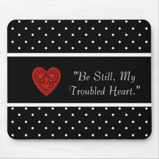 ENCOURAGE-LOVE_RED-HEART_TEMPLATE-VINTAGE-STYLISH MOUSE PAD