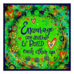 """""""Encourage One Another"""" Inspirivity Poster"""