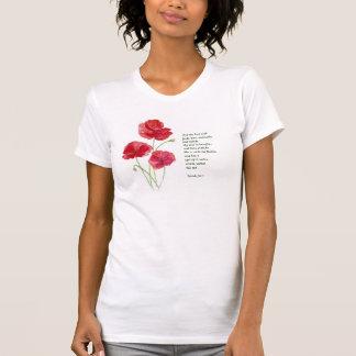Encourage Scripture Isaiah Poppy Garden Flower Tee Shirt