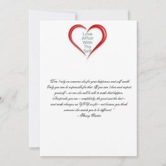Encourage self respect thank you card