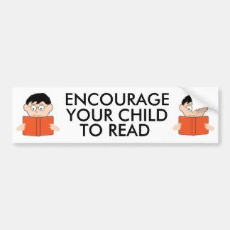 Encourage Your Child to Read Bumpersticker Bumper Sticker