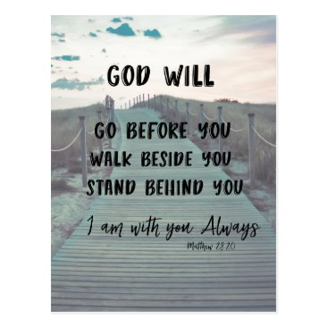 Christian_Quote Encouragement and Comfort Bible Verse with Quote Postcard