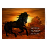 Encouragement and Support Horse at Sunrise Greeting Card
