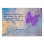 encouragement card butterfly, Emerson Quote