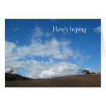 Encouragement Card: Hoping all your clouds