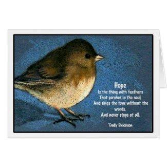 ENCOURAGEMENT CARD WITH JUNCO BIRD