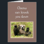 """Encouragement Chemo can knock you down. Card<br><div class=""""desc"""">Encouragement Chemo can knock you down but hang in there I know you&#39;ll come back stronger</div>"""