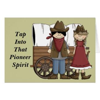 Encouragement Cute Pioneer Spirit Card - Western