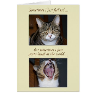 Encouragement for an Illness, Cute Cat Card