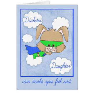 Encouragement For Daughter with Diabetes Card