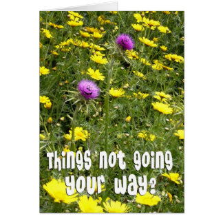 Encouragement - Funny Thistles Card