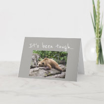 Encouragement/ Get Well Exhausted Bear Animal Card