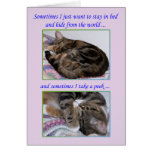 Encouragement Greeting Card, Photos of a Cat