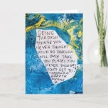 Encouragement greeting card quote