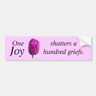 Encouragement Joy Tulip Flower w Chinese Proverb Bumper Sticker