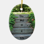Encouragement: One step at a time Christmas Ornament