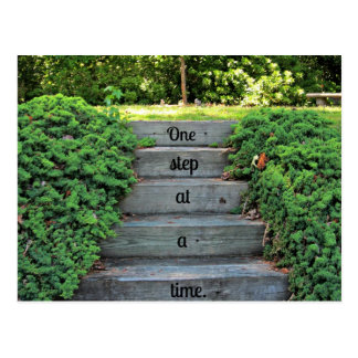 Encouragement: One step at a time Postcard