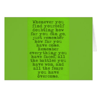 ENCOURAGEMENT QUOTES HOW FAR YOU'VE COME MOTIVATIO GREETING CARD