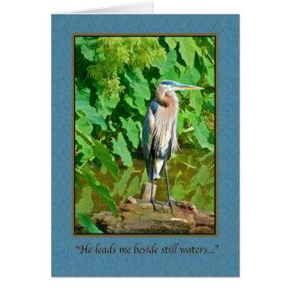Encouragement, Religious, Great Blue Heron Card