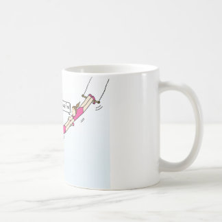 Encouragement to hang in there. classic white coffee mug