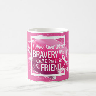 Encouragement words for a brave friend with cancer coffee mug