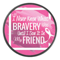 Encouragement words for a brave friend with cancer hockey puck