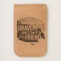 Encouragement words for a brave friend with cancer iPhone 6/6S case