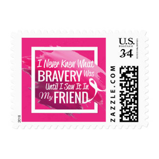 Encouragement words for a brave friend with cancer postage