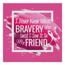 Encouragement words for a brave friend with cancer poster