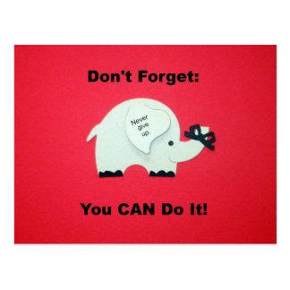 Encouragement You can do it Postcard