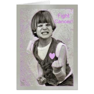 Encouragemet del cáncer de la lucha tarjeta de felicitación